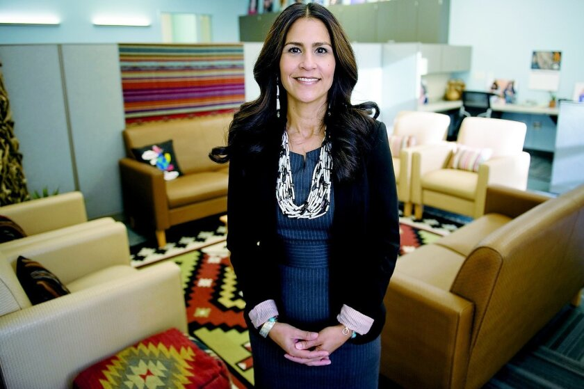 Joely Proudfit helped launch the California Indian Culture and Sovereignty Center, which she now runs at Cal State San Marcos. Tom Pfingsten