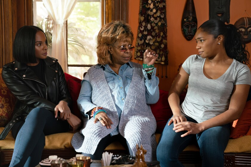 "Tika Sumpter (left), Whoopi Goldberg and Tiffany Haddish in ""Nobody's Fool."""