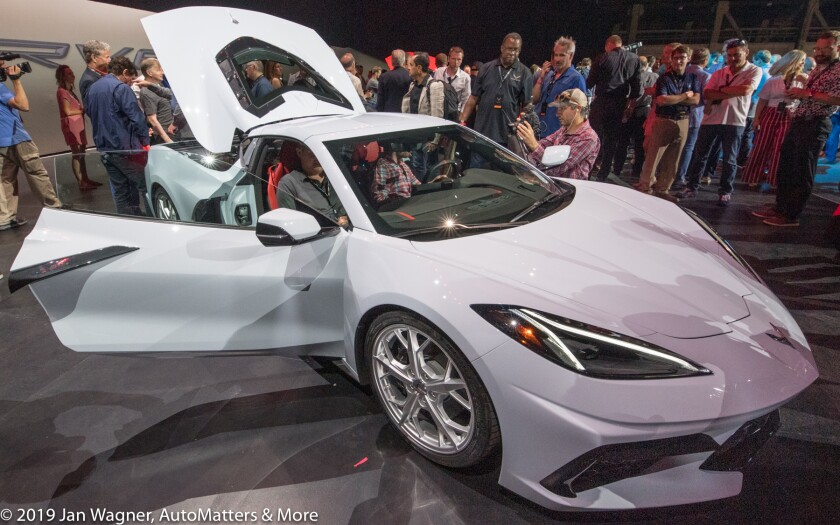 White 2020 Corvette
