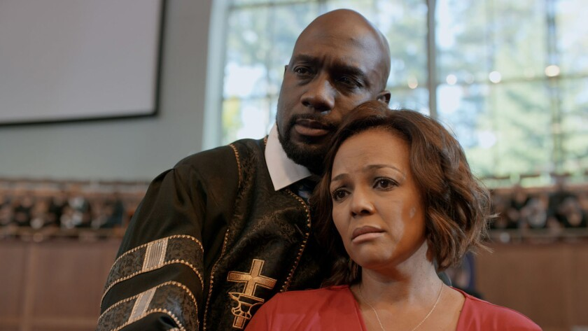 """Richard T. Jones and Kim Fields in the movie """"A Question of Faith."""""""