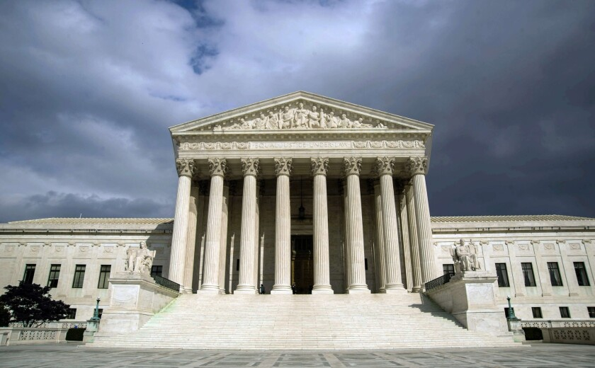 The U.S. Supreme Court building is seen in this file photo from 2012.