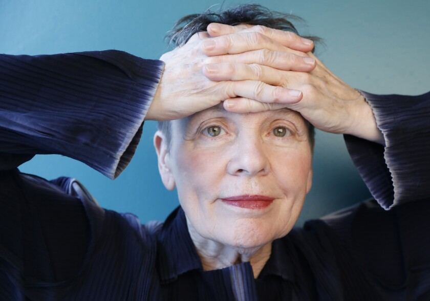 NEW YORK, NEW YORK--MARCH 29, 2018--Performance artist Laurie Anderson at her home in Manhattan, NY