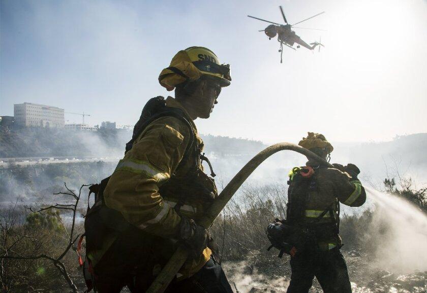 California brush fire