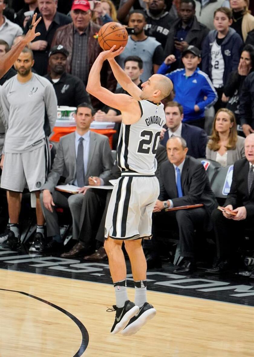 El jugador de los San Antonio Spurs Manu Ginobili. EFE/Archivo
