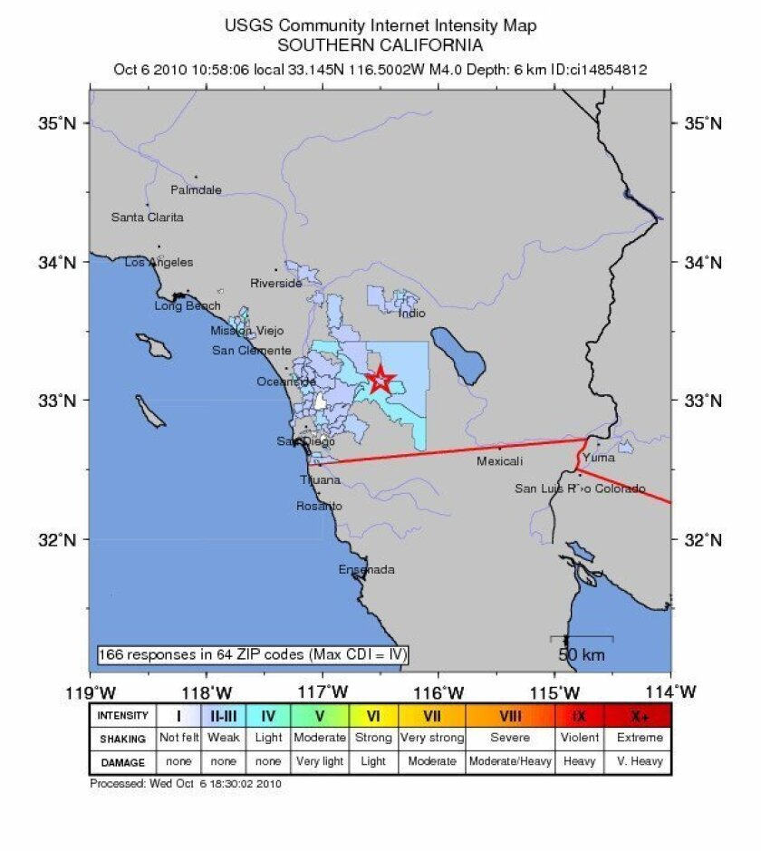 Today's 4.0 earthquake began 4.2 miles beneath the Earth's surface.