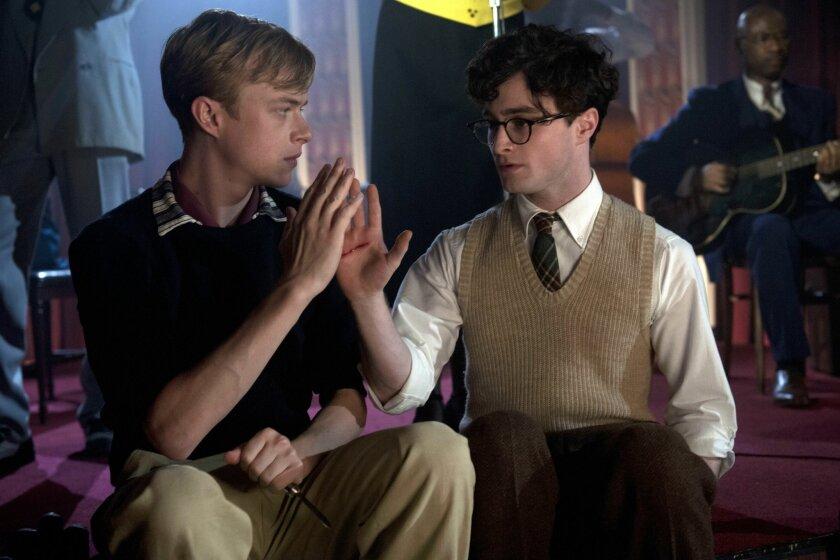 "Dane DeHaan is Lucien Carr (left) and Daniel Radcliffe is Allen Ginsberg in ""Kill Your Darlings"""