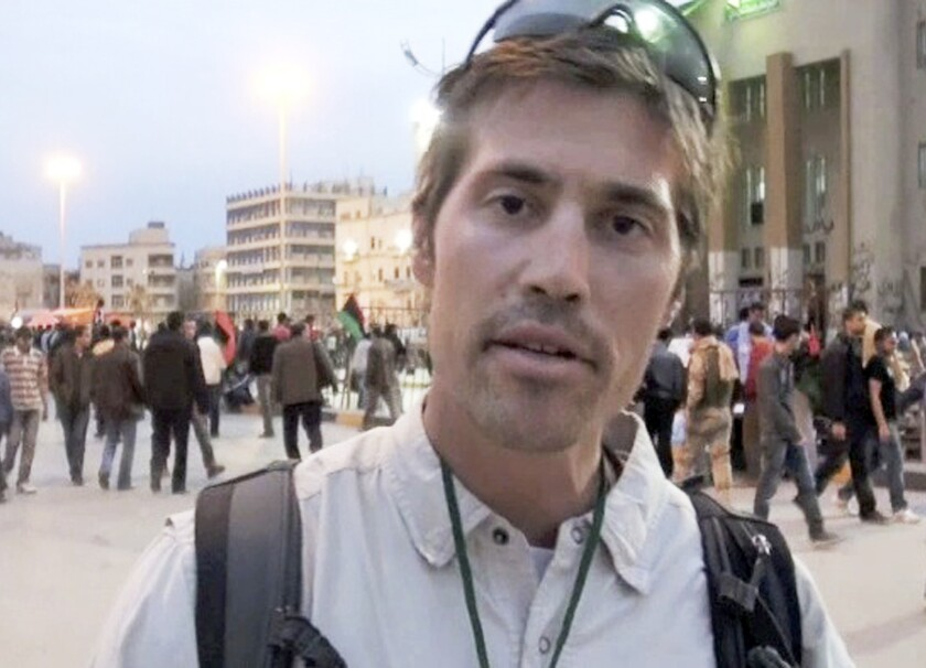 American journalist James Foley in Benghazi, Libya.