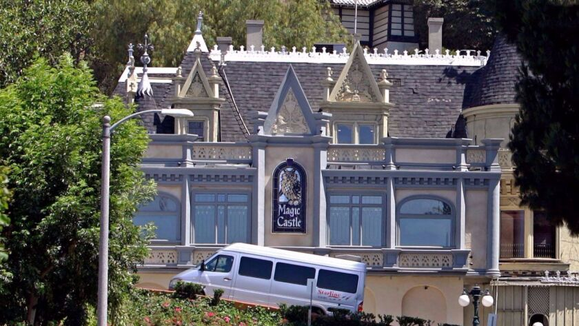 The Magic Castle, a private club in Hollywood.