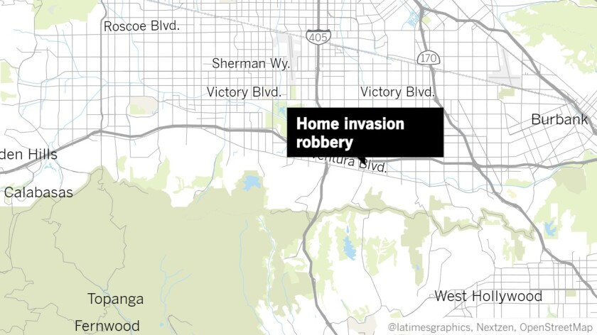 They were tied up as their Sherman Oaks home was robbed. One man got loose and ran for help