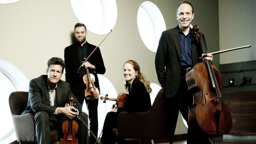 """St. Lawrence String Quartet played a marathon concert of Haydn's """"Sun"""" Quartets at Samueli Theater in Costa Mesa on Sunday afternoon."""
