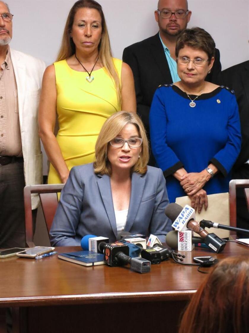 La alcaldesa de San Juan, Carmen Yulín Cruz, durante una conferencia de prensa. EFE/Archivo