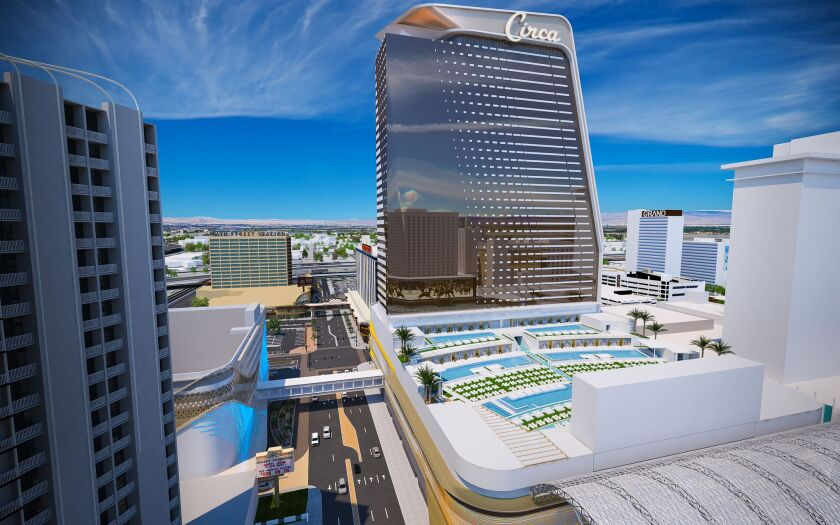 A rendering of the mega project Circa, going into downtown Las Vegas in 2020.