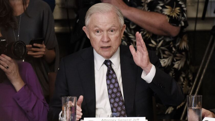 Atty. Gen. Jeff Sessions at the White House on May 16.