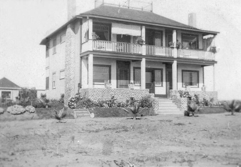 The Barrett family home is pictured in 1910. The two-story structure still stands at 3778 Shasta St.