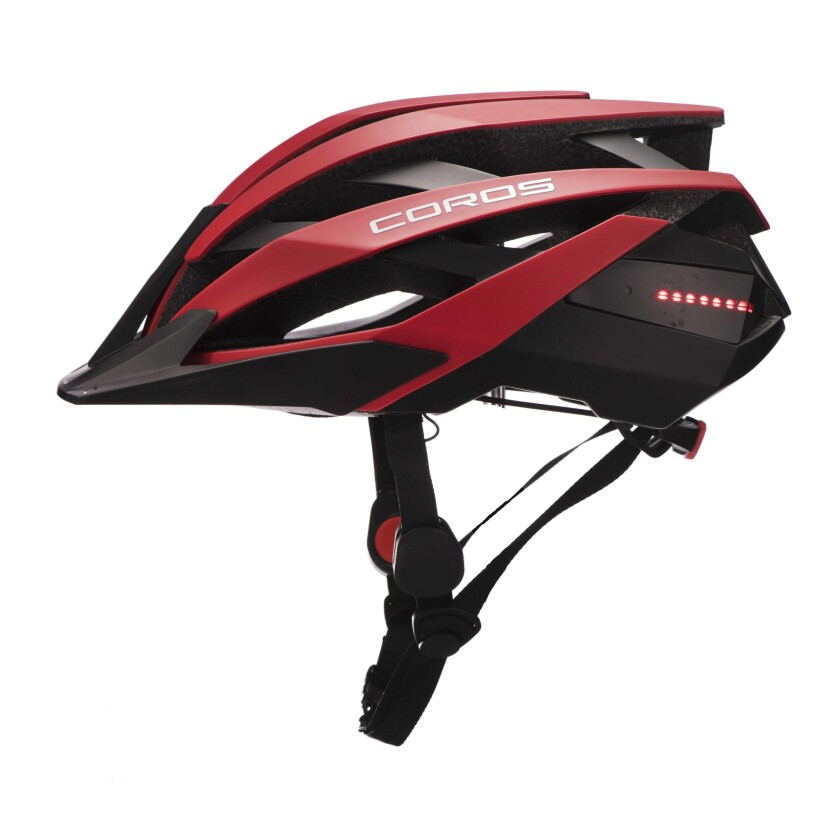 Connected bike helmet. Using bone-conduction technology, the Coros Omni Smart pumps your music, ph