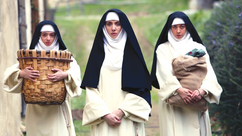 """Kate Micucci, Alison Brie and Aubrey Plaza in """"The Little Hours"""" ** OUTS - ELSENT, FPG,"""