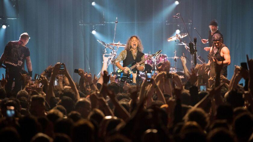 Metallica performs at the Hollywood Palladium.