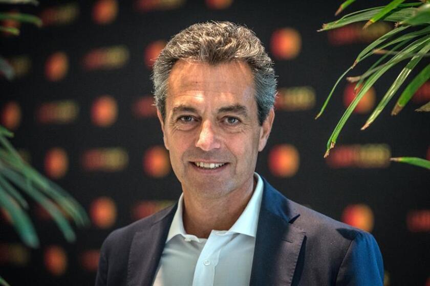 El presidente de Mastercard para Latinoamérica y el Caribe, Carlo Enrico, posa para Efe durante una entrevista hoy, martes 27 de noviembre de 2018, en Miami, Florida (EE. UU.). EFE