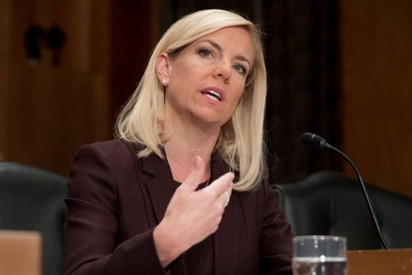 El Senado confirmó hoy a Kirstjen Nielsen como la próxima secretaria de Seguridad Nacional del Gobierno de Donald Trump, convirtiéndose así en la responsable de la política migratoria del país. EFE/ARCHIVO