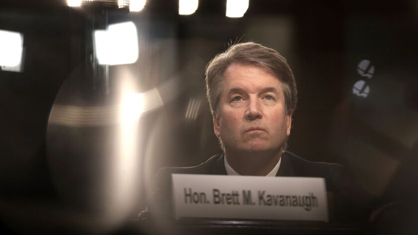 Supreme Court nominee Brett Kavanaugh appears before the Senate Judiciary Committee on Sept. 4.