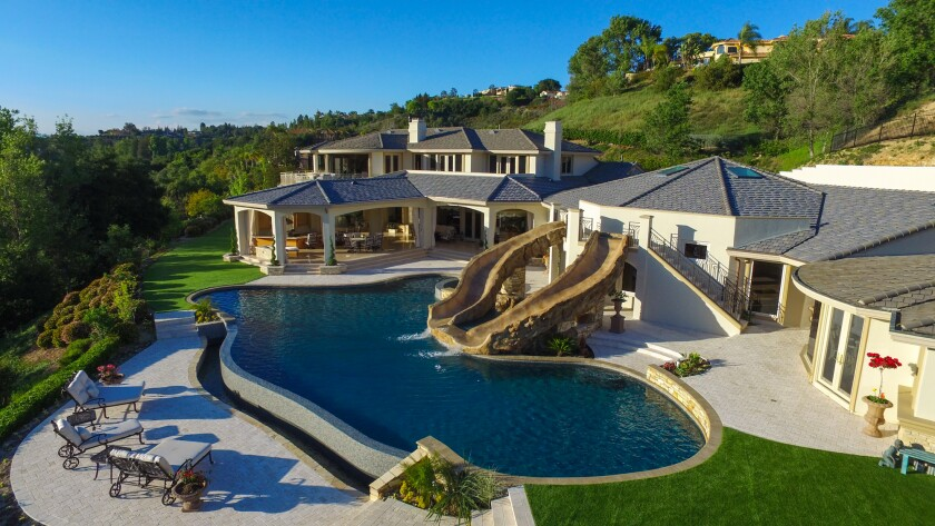 The resort-style backyard.