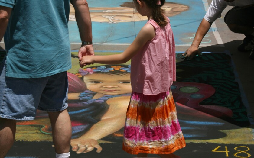 The Pasadena Chalk Festival has historically been on Father's Day weekend.