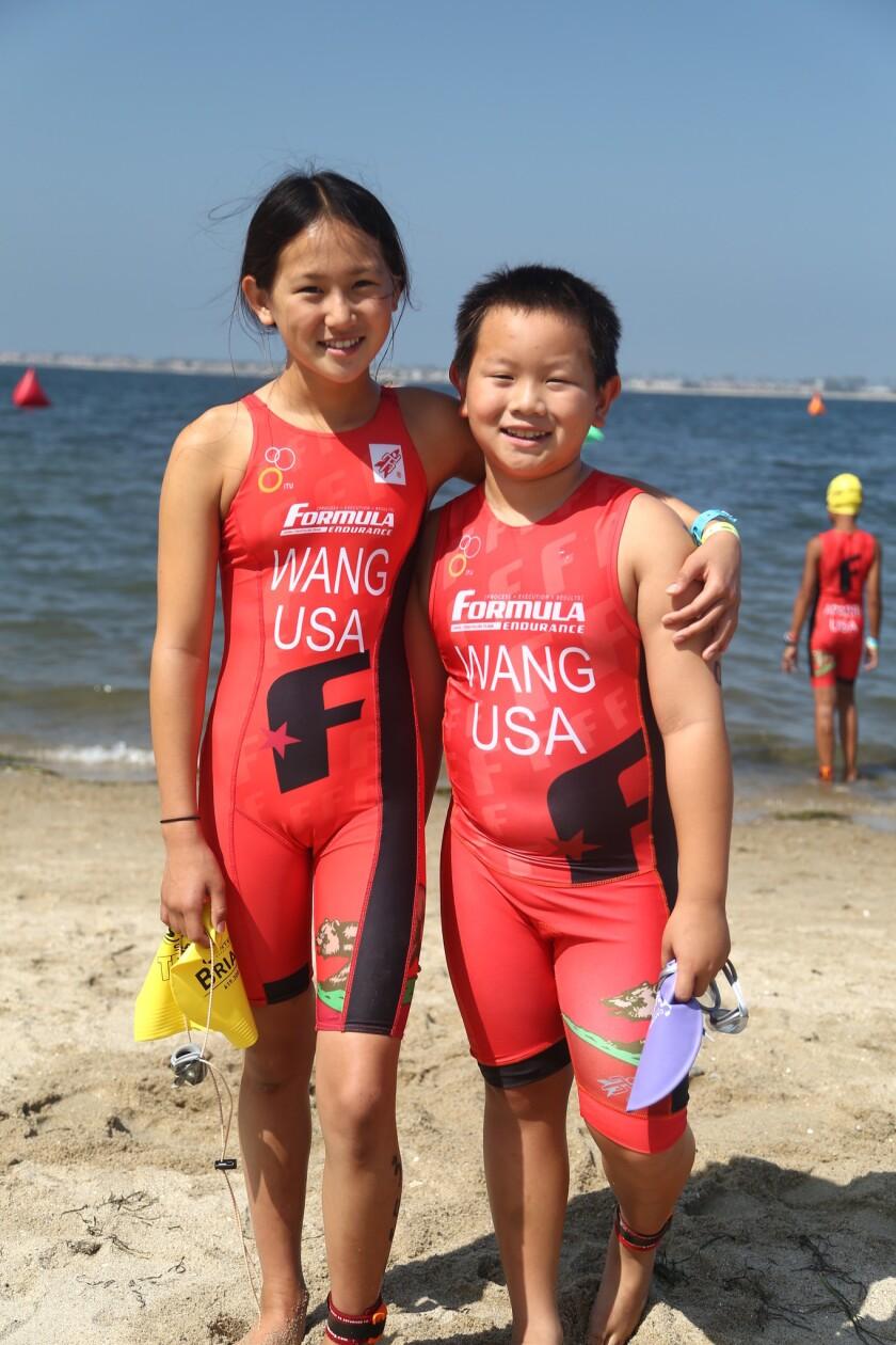 Natalie Wang and Aaron Wang