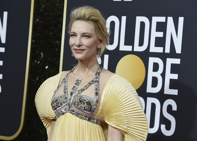 Cate Blanchett arrives at the 77th annual Golden Globe Awards at the Beverly Hilton Hotel on Sunday, Jan. 5, 2020, in Beverly Hills, Calif. (Photo by Jordan Strauss/Invision/AP)