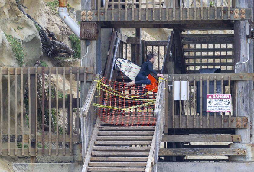 All stairways up and down connecting the street and beaches will reopen Saturday.