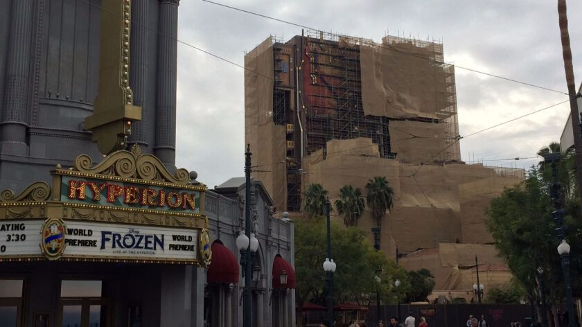 A peek at the facade for Guardians of the Galaxy: Mission Breakout! from early February.