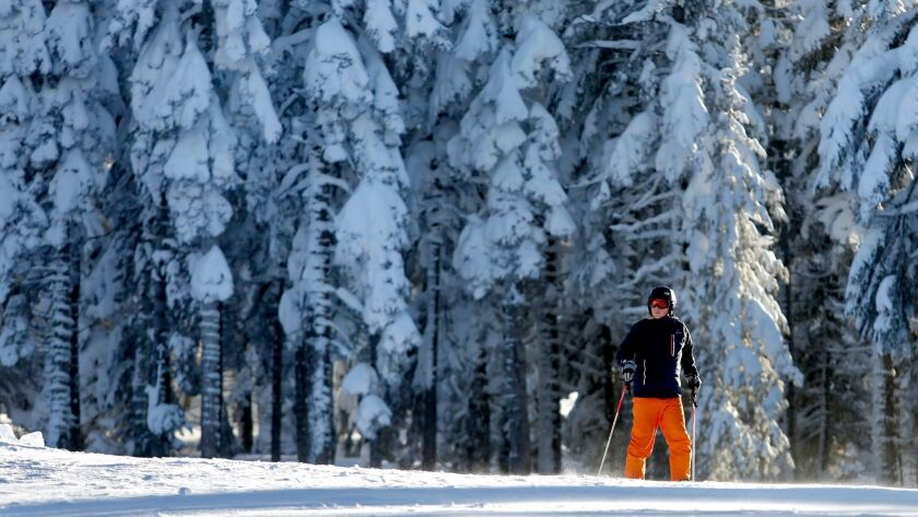 Recent record storms blanket Northstar California Ski Resort in Truckee with snow.