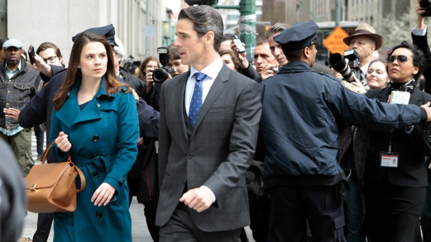 """Hayley Atwell, with Eddie Cahill, stars in ABC's new legal drama """"Conviction."""""""