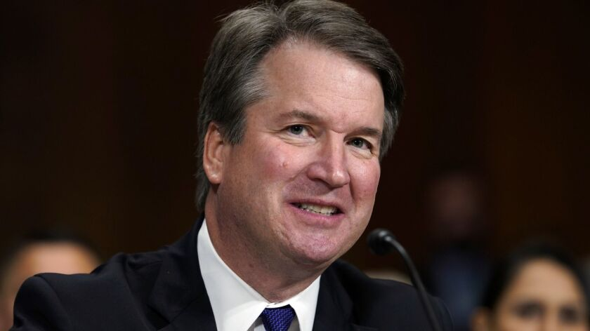 Column: Was I the only one who shuddered at Brett Kavanaugh's belligerent comments about beer?