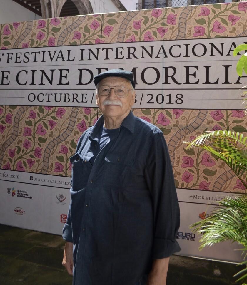 Guillermo Munro, 77, en la exhibición de Sonora en el Festival de Cine de Morelia en 2018.
