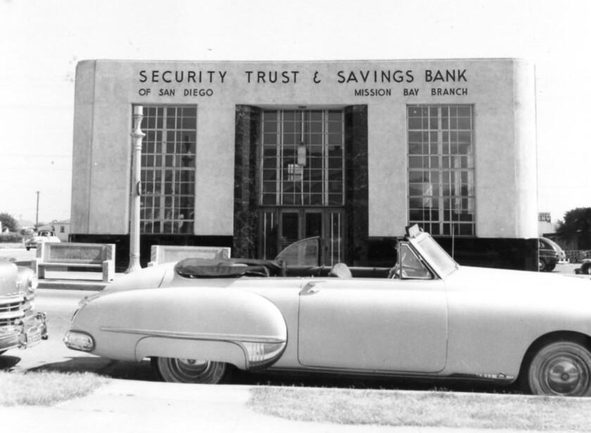 Security Trust & Savings Bank, 875 Garnet Ave, around 1950.