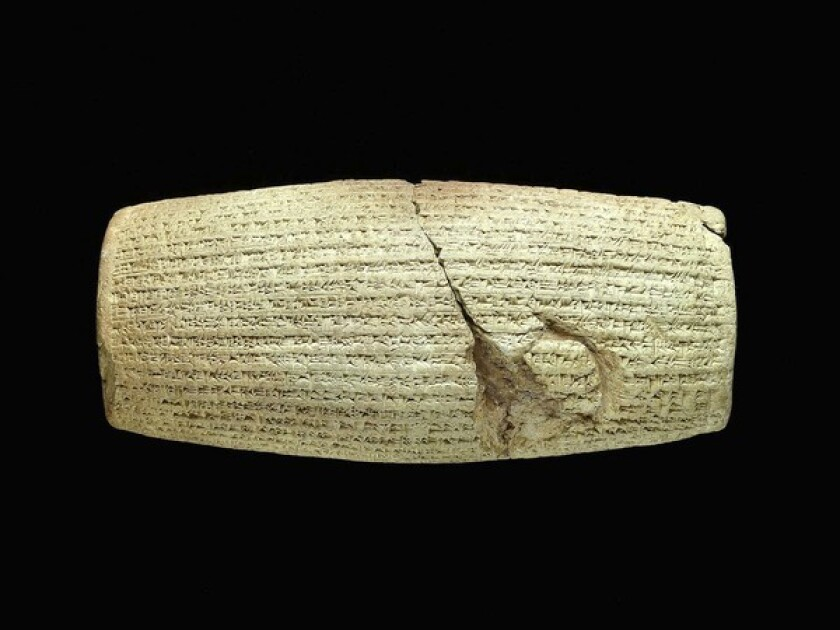 Fall Arts Preview: The Cyrus Cylinder,  coming to the Getty Villa, is an ancient bill of rights