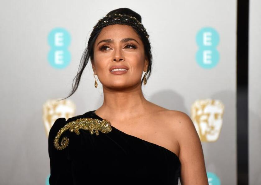 Mexican actress Salma Hayek attends the 72nd annual British Academy Film Awards at the Royal Albert Hall in London, Britain. EPA/EFE/File