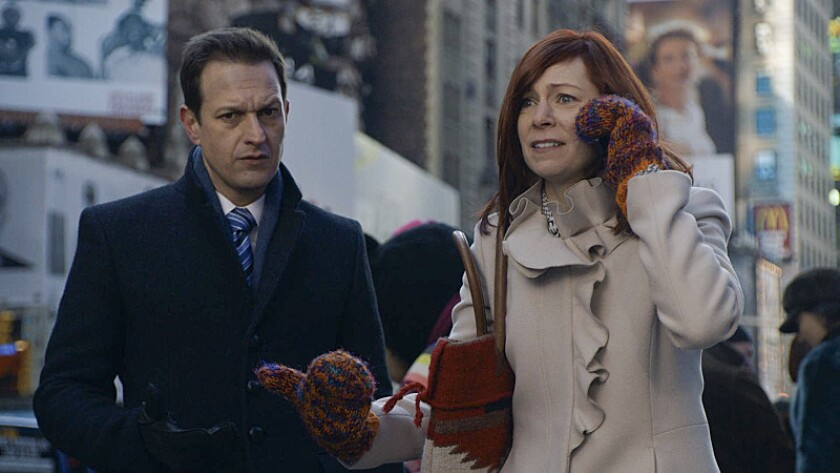 "Josh Charles and Carrie Preston as Elsbeth Tascioni on CBS' legal drama ""The Good Wife."""
