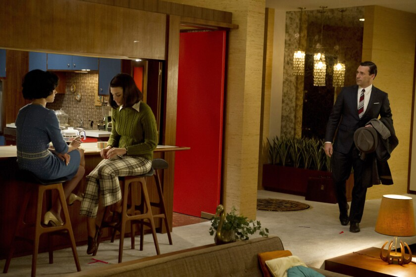 """""""People recognized when they first saw the set decoration [on 'Mad Men'] that modern did not have to be cold and monochromatic. It could be warm and livable. Midcentury Modern became part of our customers' vocabulary,"""" says Raymond Arenson, executive vice president of merchandising and design at Crate & Barrel."""