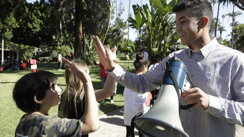 BEVERLY HILLS, CA -- OCTOBER 12, 2018: Ryan Abrishami, a senior at Beverly Hills High School and one