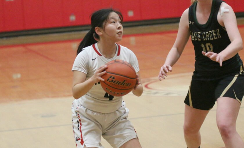 Guard Elaine Wang is the only returning starter at Canyon Crest.
