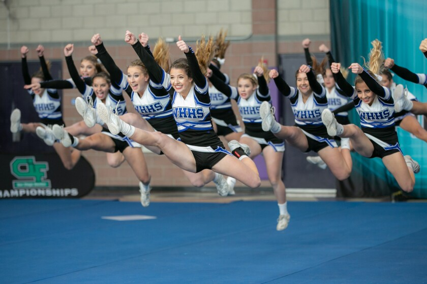 West Hills was among this school year's division champions in competitive cheer.