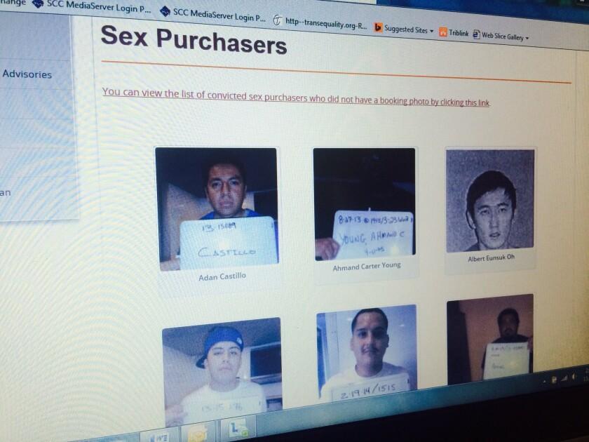 Sitio de Internet del Condado de Orange muestra fotos de solicitantes de sexo con adultos o menores de edad.