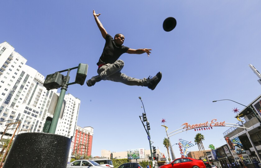 """Charles """"Lil Buck"""" Riley, taking a leap from Las Vegas. Over the last year,"""