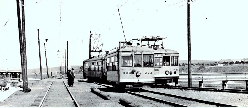 Looking east from Ocean Beach Junction — now part of Robb Field — in May 1924.