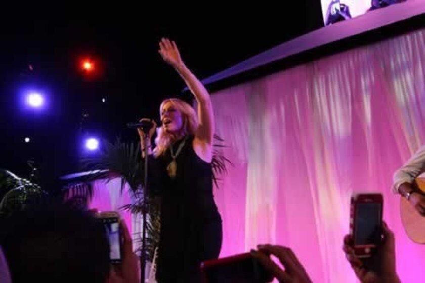 Pop singer Natasha Bedingfield performs at the opening. Ashley Mackin