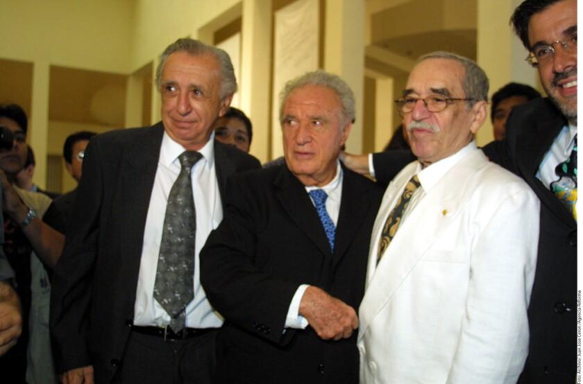Vicente Leñero, Julio Scherer y Gabriel García Márquez. A Scherer y Gabo los unió la amistad y el oficio.