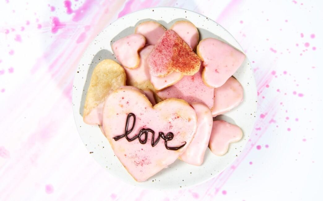 Orange Shortbread Hearts