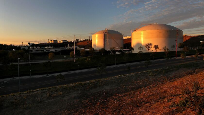A San Pedro storage site owned by Rancho LPG Holdings LLC includes two 12.5-million-gallon refrigerated tanks.