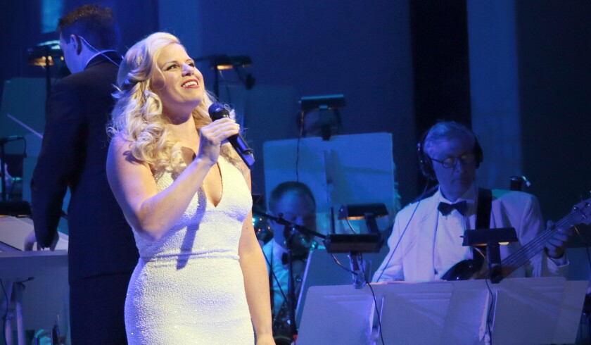 """Megan Hilty (""""Smash"""") performs as part of the 2015 show """"Bombshell in Concert."""""""